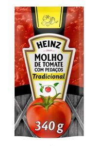 [C. OURO] Molho de tomate Heinz 340g (Leve 6 pague 4)