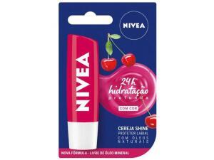 [App] Protetor Labial Nivea Cereja Shine - Hidratação Profunda 4,8g | R$ 8