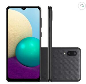 Smartphone Samsung Galaxy A02 Tela Infinita 6.5 32GB Preto | R$ 664