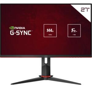"(REEMBALADO) Monitor Aoc LED 27"" IPS 144hz 1Ms e G-Sync - Full HD | R$1500"