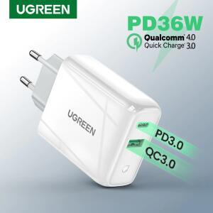 Ugreen 36w carregador rápido usb carga rápida 4.0 3.0 | R$76