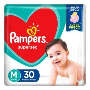 Fraldas Pampers Supersec M 30 Unidades | R$ 15