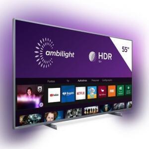 Smart TV LED 55'' Philips 4K Ultra HD AMBILIGHT 3 | R$2270