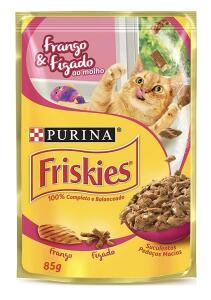 [RECORRÊNCIA] NESTLÉ PURINA FRISKIES Ração Úmida para Gatos Adultos Frango e Fígado 85g R$1,8