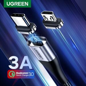 [PRIMEIRA COMPRA] Cabo Ugreen Magnético Tipo C + Micro USB R$1