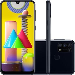 [APP] Smartphone Samsung Galaxy M31 128GB 4G Wi-Fi Tela 6.4'' Dual Chip 6GB RAM Câmera Quádrupla + Selfie 32MP - Preto R$1457