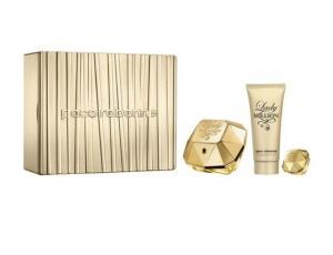 KIT PERFUME PACO RABANNE LADY MILLION EDP 80ML + BODY LOTION + MINIATURA | R$ 359