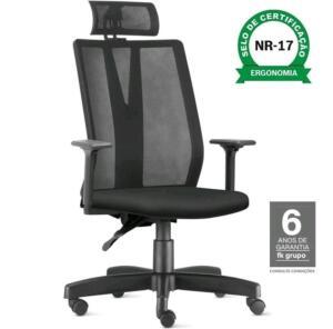 Cadeira Escritório Ergonômica Addit Presidente | R$763