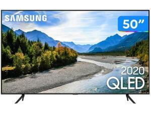 "[Cliente Ouro] Smart TV 4K QLED 50"" Samsung 50Q60TA Wi-Fi Bluetooth HDR 3 HDMI 2 USB   R$2564"