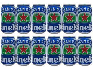 [C.Ouro] Cerveja Heineken 0.0 Pilsen Lager sem Álcool - 12 Unid 350ml | R$34