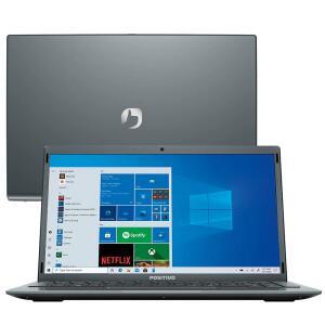 "Notebook Positivo Intel Atom Quad Core 4GB 128GB eMMC Tela 14"" | R$1665"