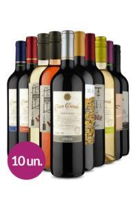Kit Wine 10 Vinhos + Frete Grátis | R$219