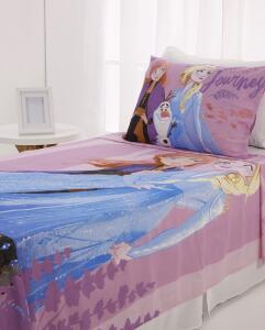 Jogo de Cama Infantil Solteiro Frozen Disney Lilás | R$46