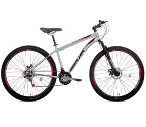 "Bicicleta Houston Discovery Aro 29 com Freio a Disco, 21 Marchas, Quadro 18"" - Prata | R$999"