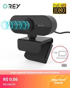 [Novos Usuários] Webcan 1080p HD completo com microfone.