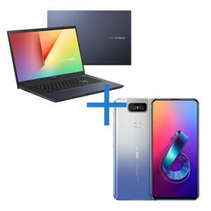 Notebook ASUS VivoBook + Smartphone ASUS ZenFone 6 8GB/256GB Prata | R$6.119