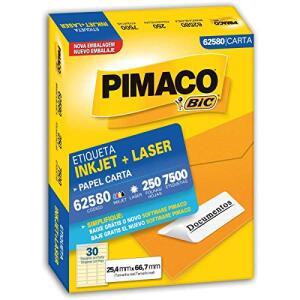 Etiqueta Ink-Jet/Laser Papel Carta 25.4x66.7, BIC, 7.500 Etiquetas | R$116