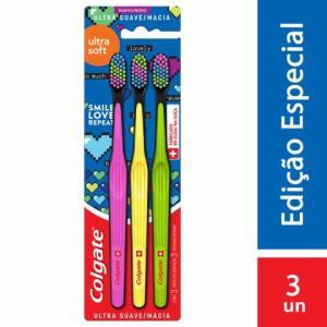 Escova Dental Colgate Ultra Soft +5500 cerdas | Kit com 3 unid | R$32
