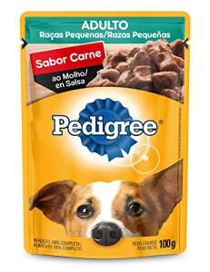 [PRIME] Ração Úmida Para Cachorros Pedigree Sachê Carne ao Molho Adultos Raças Pequenas 100g | R$1,59