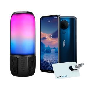 Smartphone Nokia 5.4 128GB, 4GB RAM, Tela 6,39 - Azul+ HMD Connect + Caixa de Som Speaker Flash 15W - MNK30X | R$1.400