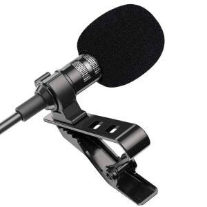 [novos usuários] Mini microfone portátil lavalier | R$ 0,06