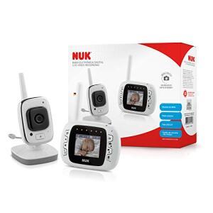 Babá Eletrônica Digital LCD Vídeo Recording - NUK, Branco   R$650