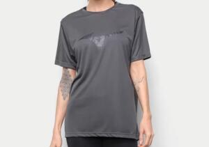 Camiseta Mizuno Energy Melange Feminina - Cinza   R$35