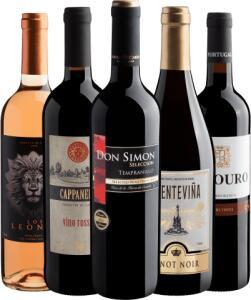 Evino Kit 5 vinhos | R$120