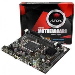 Placa Mãe Micro ATX AFOX IH61-MA5 2ª e 3º Geração LGA 1155 Intel H61 VGA | R$319