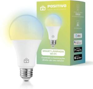 Smart Lampada Wi-Fi Positivo Casa Inteligente LED 10W Branco Bivolt R$52