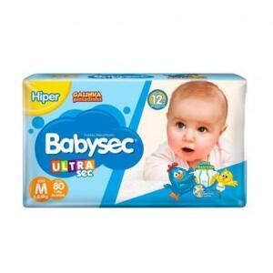 Fralda Infantil Babysec Ultrasec 80 unidades | R$54