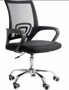 Cadeira de Escritório com Base Cromada - 9050 | R$216