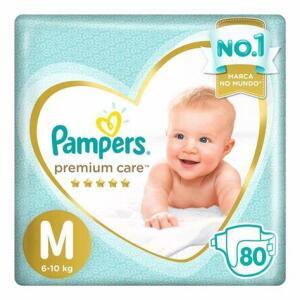 Fralda Infantil Pampers Premium Care M 80 | R$80