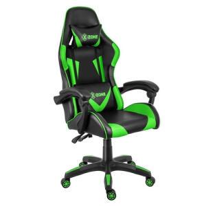 Cadeira Gamer Reclinável Premium X-Zone Cgr-01 Preta E Verde Frete Gratis Brasil | R$790