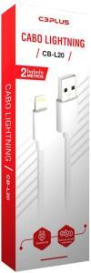 [Prime] Cabo USB-Lightning C3Plus CB-L20WH 2M Branco | R$12