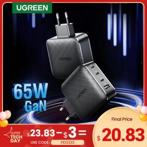 Carregador Ugreen de carga rápida com QC 4.0 - 65W, USB tipo-C R$121