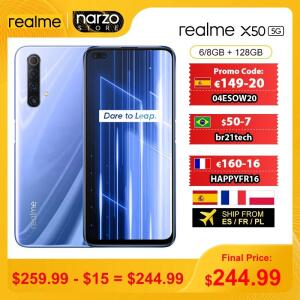 Smartphone Realme X50 6GB 128GB Global | R$1.445