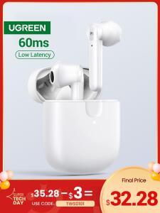 Fone de Ouvido sem fio Ugreen Hitune T2 | Bluetooth 5.0 | R$199