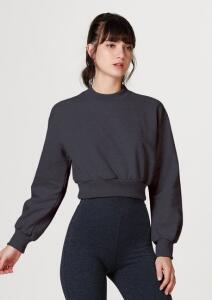 Blusão Feminino Cropped Gola Alta - Rosa Claro | R$50