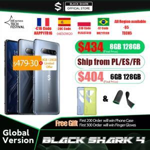 Smartphone Black Shark 4 Snapdragon 870 Tela 144hz Amoled Bateria 4500Mah   R$2373