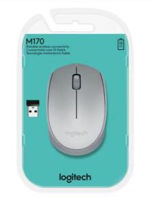 Mouse Sem Fio Óptico Logitech USB M170 Prata | R$40