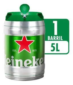 Barril Heineken 5 Litros - 2 unidades | R$127