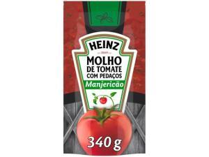 (CLIENTE OURO) Molho de tomate Heinz Manjericão - 340gr | R$1,25