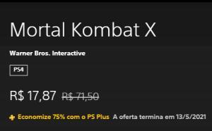 [PSPLUS] Mortal Kombat X- PS4 | R$18