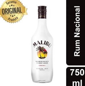[APP] Rum Malibu Original Nacional 750 ml | Caribe Coco| R$30