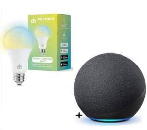 Echo Dot 4ª Geração + Lâmpada Inteligente Positivo | R$302