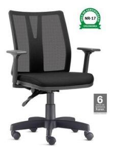 Cadeira Escritório Ergonômica Addit - com normas NR17 - Frisokar | R$670