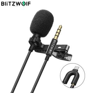 Microfone de Lapela BlitzWolf BW-CM1 | R$56