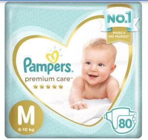 (APP) compre 3, pague 2 -Fralda Pampers Premium Care M - 6 a 10kg 80 Unidades   R$57