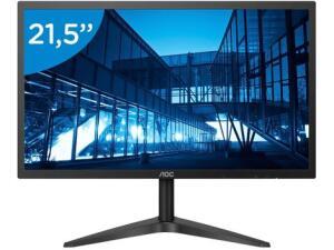 "Monitor para PC AOC B1 22B1H 21,5"" LED - Widescreen Full HD HDMI VGA | R$608"